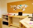 bureau sur mesure en bois de palettes revalorisées Boby&co'