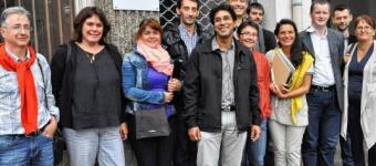 Michel Bellon (au centre), chargé d'accompagnement, entouré d'entrepreneurs-salariés du Pays de Saint-Malo.